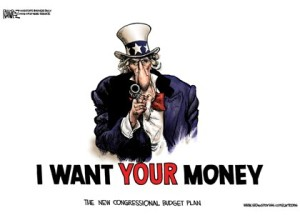 Image result for image of uncle sam as a highway robber
