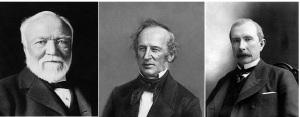 Andrew Carnegie, Cornelius Vanderbilt, John D Rockefeller