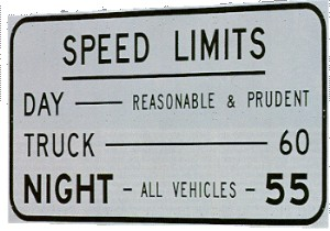 """Montana Reasonable and Prudent Speed """"Limit"""" Sign"""