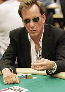 Actor James Woods at a World Poker Tour event