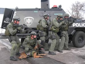 SWAT team: AKA People I'd eventually see if I used my 12 year old death trap to give people rides via Lyft