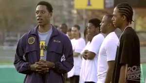 Orlando Jones as Dr. Lee from the movie Drumline (left)