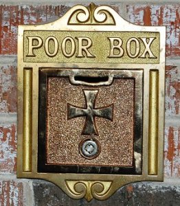 Alms for the poor box