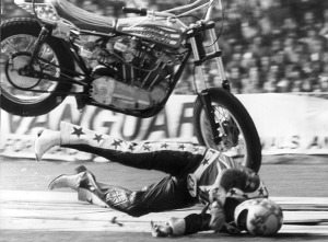 Evel Knievel Crash - Wembley Stadium