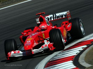 Ralph Schumacher's brother's Ferrari F2004 car, and holder of several F1 records 12 years later
