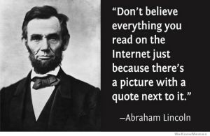 Abraham Lincoln Weighing In On the Internet