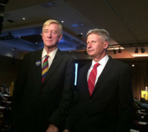Bill Weld - LP VP Nominee (Left) and Gary Johnson LP POTUS Nominee (Right)